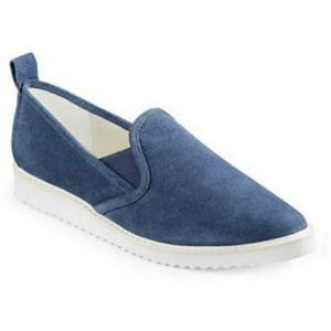 Karl Lagerfeld Suede Clement Slip Ons Sz 6